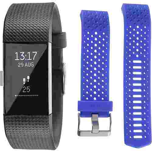 FitBit Charge 2 Bundle Fitness Tracker black-cobalt