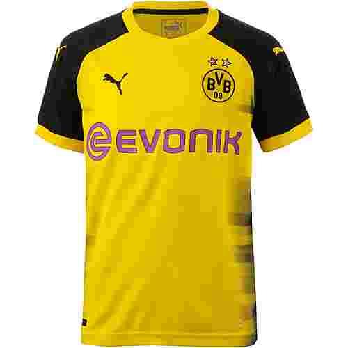 PUMA Borussia Dortmund 17/18 International Fußballtrikot Kinder Cyber Yellow-Puma Black