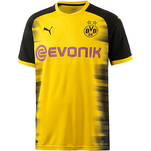 PUMA Borussia Dortmund 17/18 International Fußballtrikot Herren Cyber Yellow-Puma Black