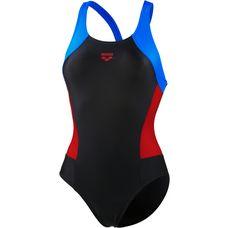 Arena Rem Schwimmanzug Damen black/red/pix blue