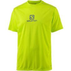 Salomon Stroll Logo SS Funktionsshirt Herren lime punch