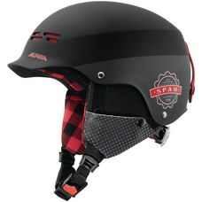 ALPINA Spam Cap Junior Skihelm Kinder black-lumberjack matt