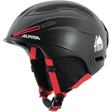 ALPINA Snow Tour Skihelm black-red matt