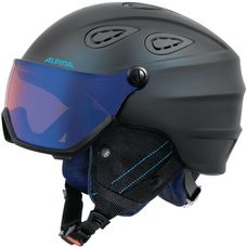 ALPINA Grap Visor HM Skihelm nightblue-denim matt