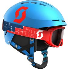 SCOTT Set Apic JR + Jr Witty Skihelm Kinder marine blue-red