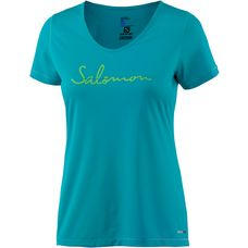 Salomon Mazy Graphic Funktionsshirt Damen blue bird