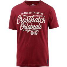Crosshatch T-Shirt Herren SUN DRIED TOMATO