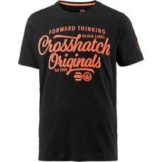 Crosshatch T-Shirt Herren BLACK