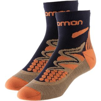Salomon Laufsocken deep-navy-orange