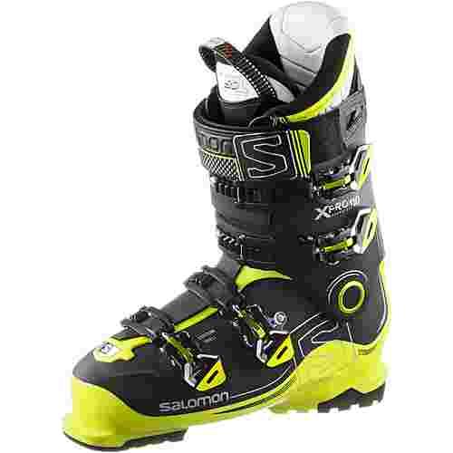 Salomon X Pro 110 Skischuhe black-acide green-anthracite