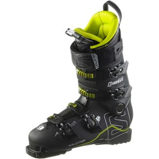 Salomon X MAX 130 Skischuhe black/metallic black/acide green