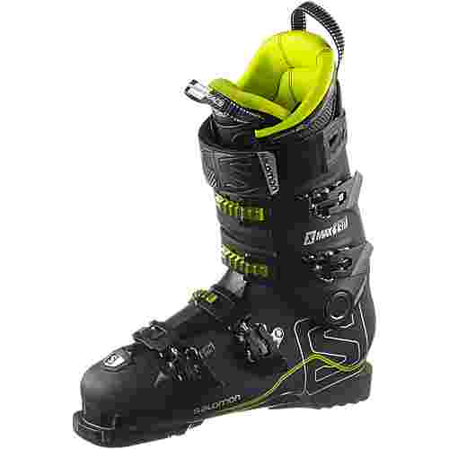Salomon X MAX 130 Skischuhe black/metallic black/acide green