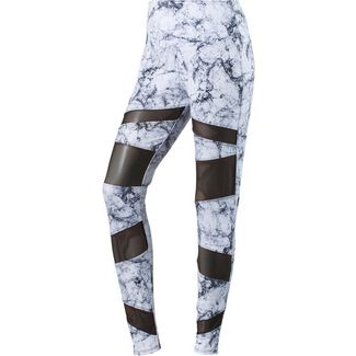 Onzie Bondage Tights Damen white marble black mesh