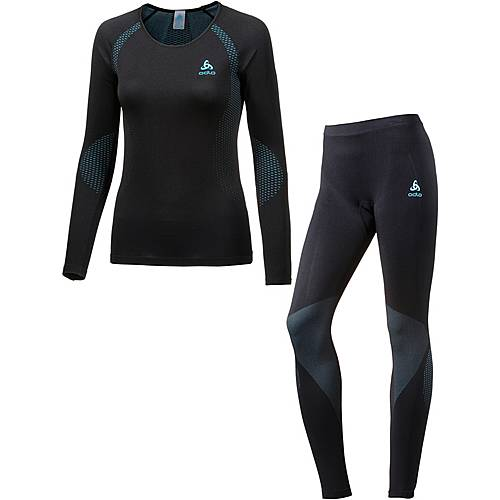 Odlo Essential Wäscheset Damen black-blue radiance