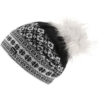 Eisbär Jördis Bommelmütze weiß-schwarz