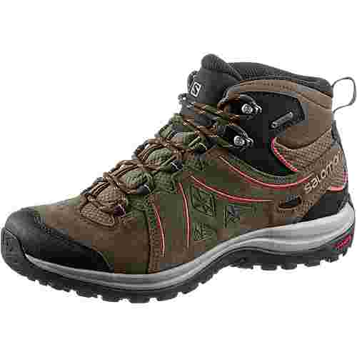 salomon ellipse 2 mid ltr gtx wanderschuhe damen vintage kaki wren living coral im online shop. Black Bedroom Furniture Sets. Home Design Ideas