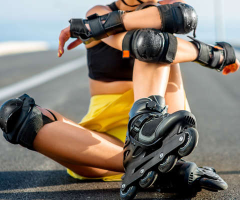 Schutzausrüstung zum Skaten