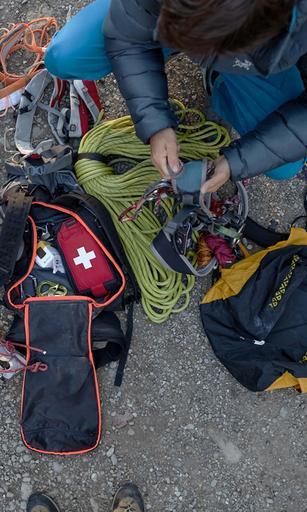 Zur Kletterausrüstung