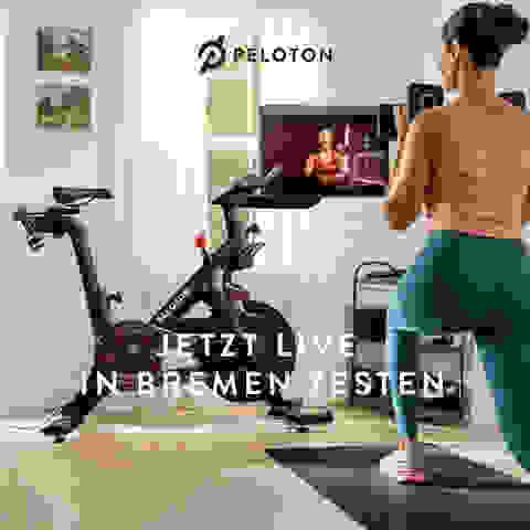 Peloton live im SportScheck Bremen testen