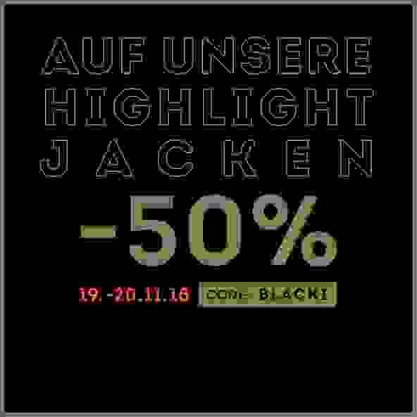 -50% auf ausgewähte Jacken