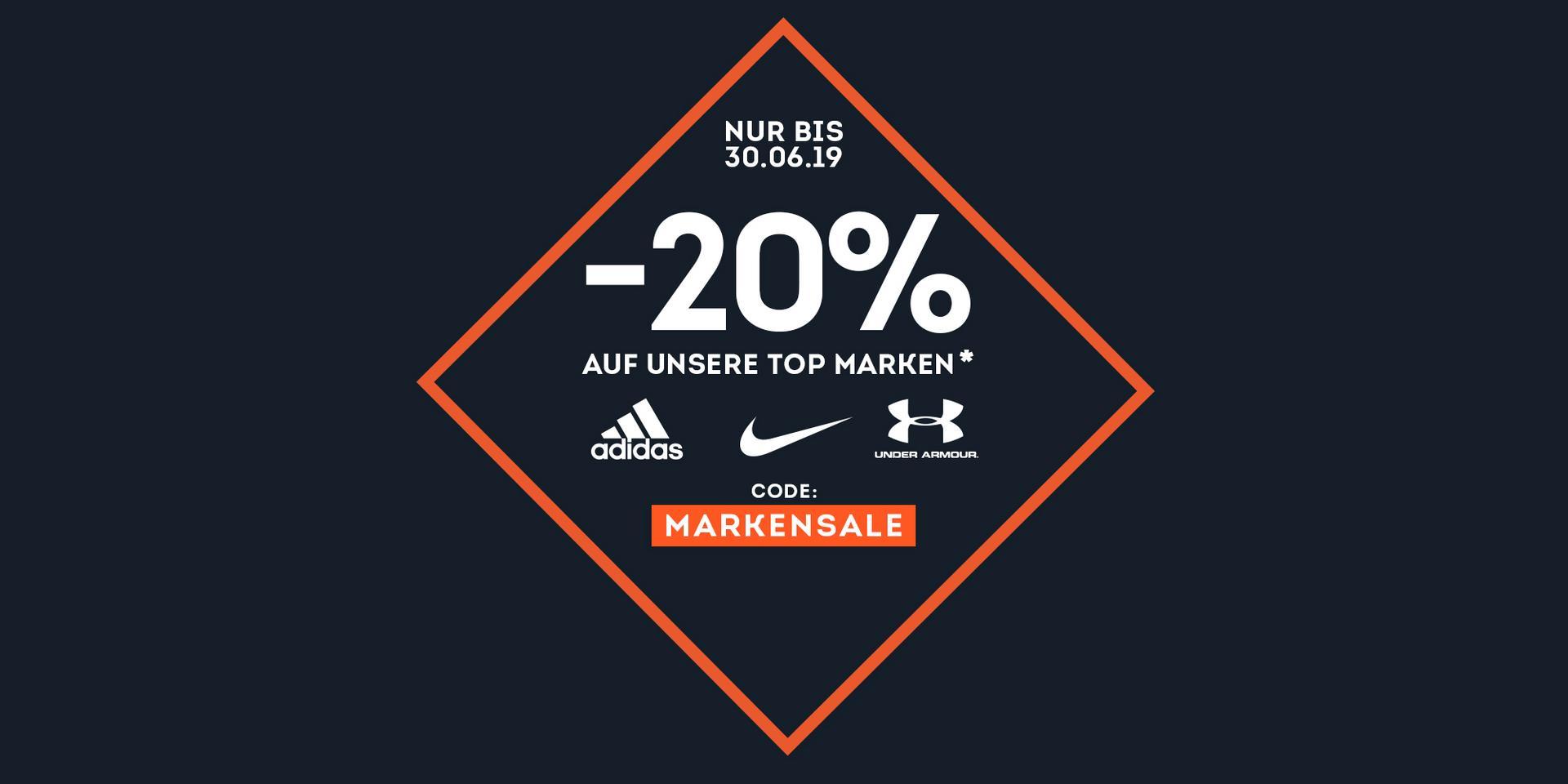 -20% auf ALLES von Adidas, Nike & Under Armour