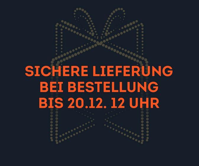 Sichere Lieferung bei Bestellung bis 20.12. 12 Uhr