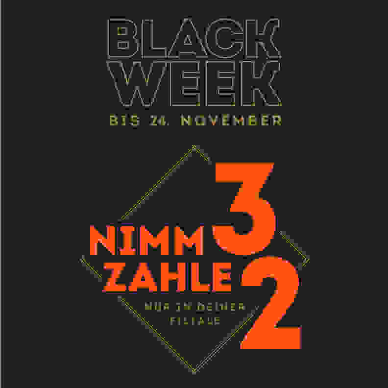 Black Week in den Filialen