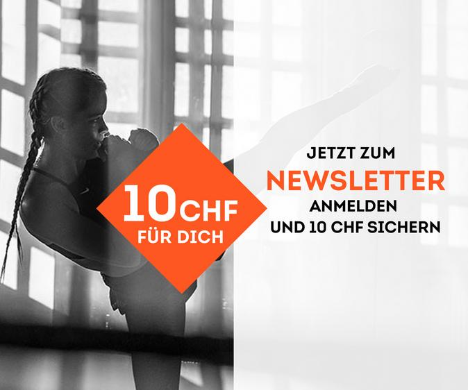 Jetzt zum Newsletter anmelden und 10 CHF sparen