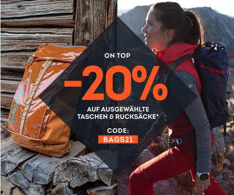 -20% auf ausgewählte Taschen & Rucksäcke