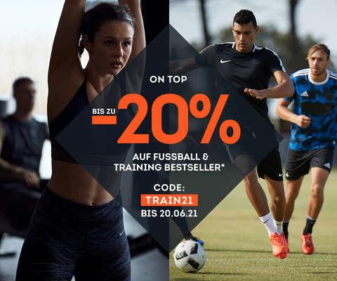 bis zu -20 % on top auf Fußball & Training Bestseller