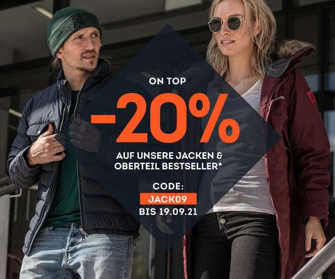 -20% on top auf Jacken & Oberteil Bestseller