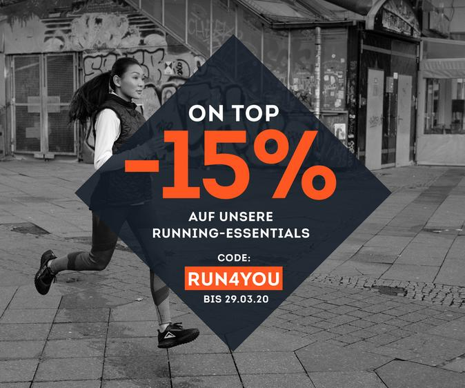 -15% auf unsere Running Essentials