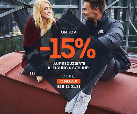 -15% auf reduzierte Kleidung & Schuhe*