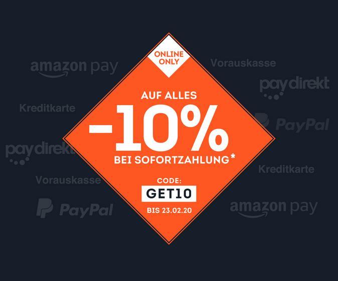 -10% bei Sofortzahlung