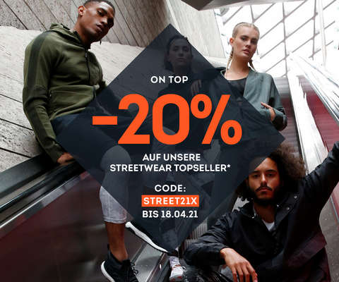 -20% on top auf Streetwear Topseller