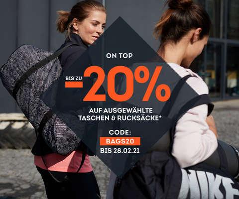 bis zu 20% auf ausgewählte Taschen & Rucksäcke