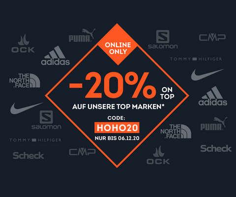 20% Top Marken