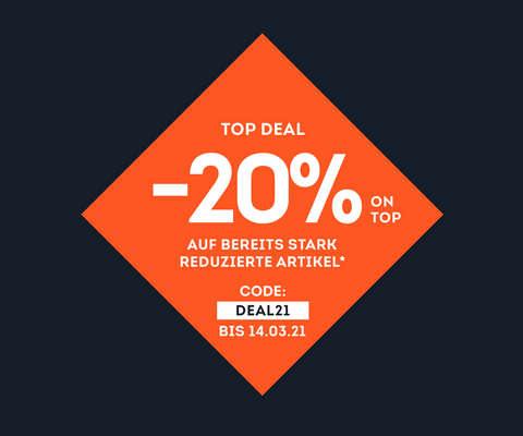 -20% on top auf bereits stark reduzierte Artikel*