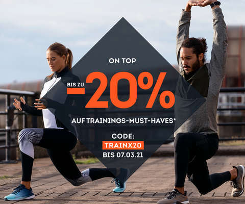 bis zu 20% auf Trainings-Must-Haves