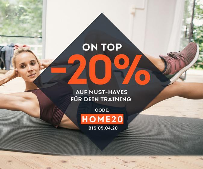 -20% auf Must-Haves für Dein Training!