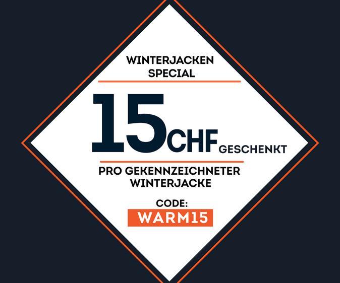 15CHF beim Kauf einer Winterjacke