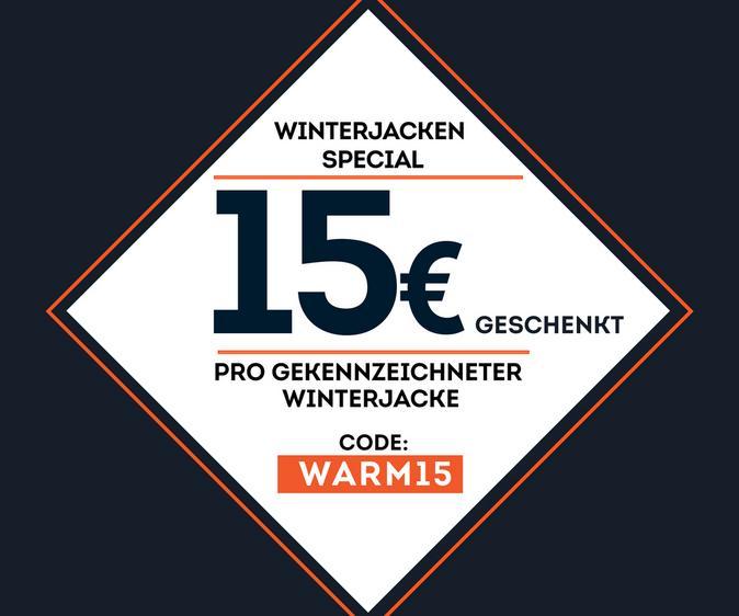 15€ beim Kauf einer Winterjacke