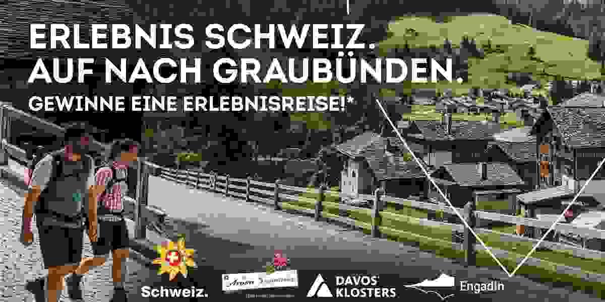Gewinne eine Erlebnisreise in die Schweiz