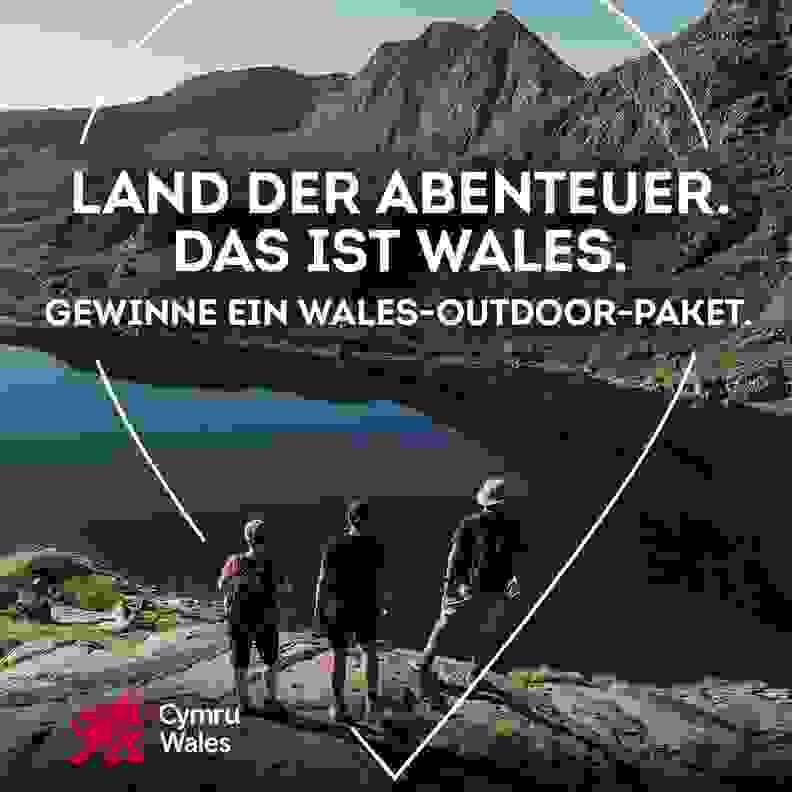 Gewinne ein Wales Outdoor Paket