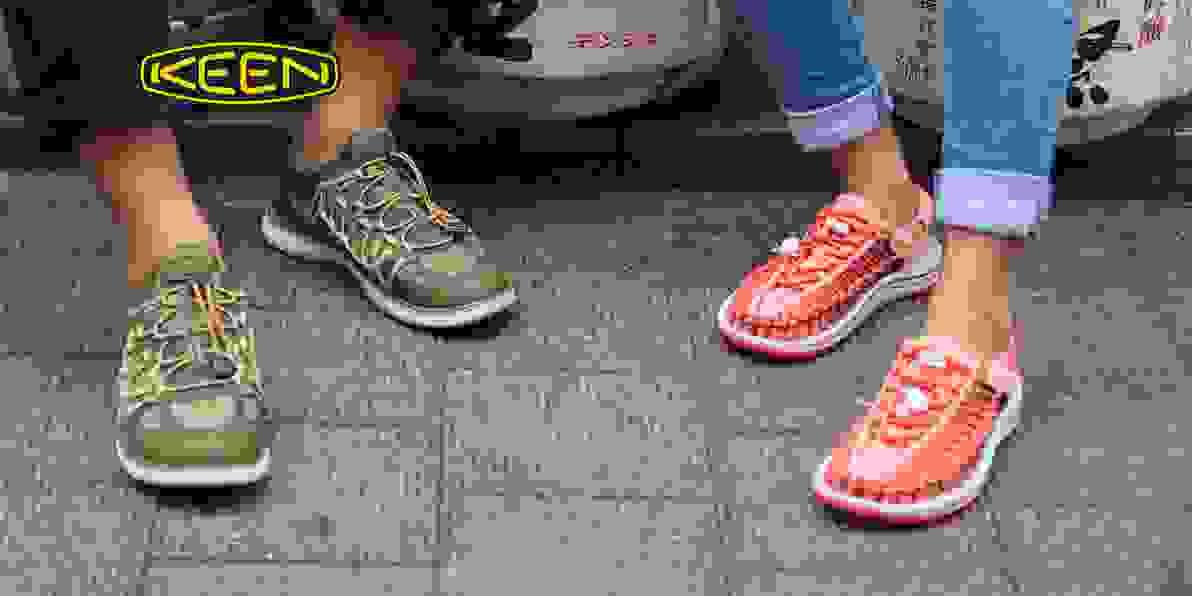 Zu den Keen Schuhen