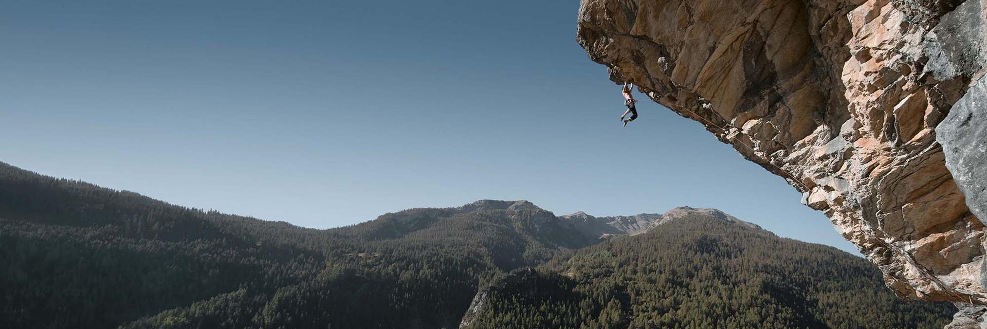klettern in großer Höhe.