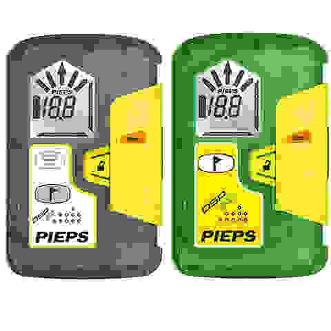 Die beiden LVS Geräte PIEPS sport und PIEPS pro nebeneinander.
