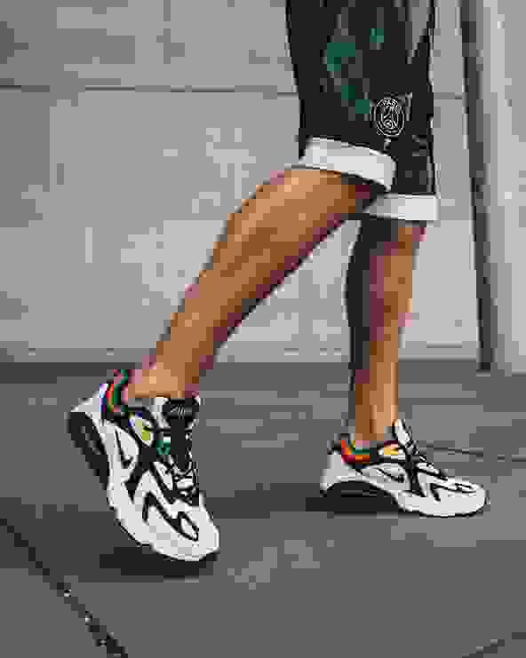 Nike Air Max 200 Herren Highlight Bild Seite mit Jordan PSG Shorts