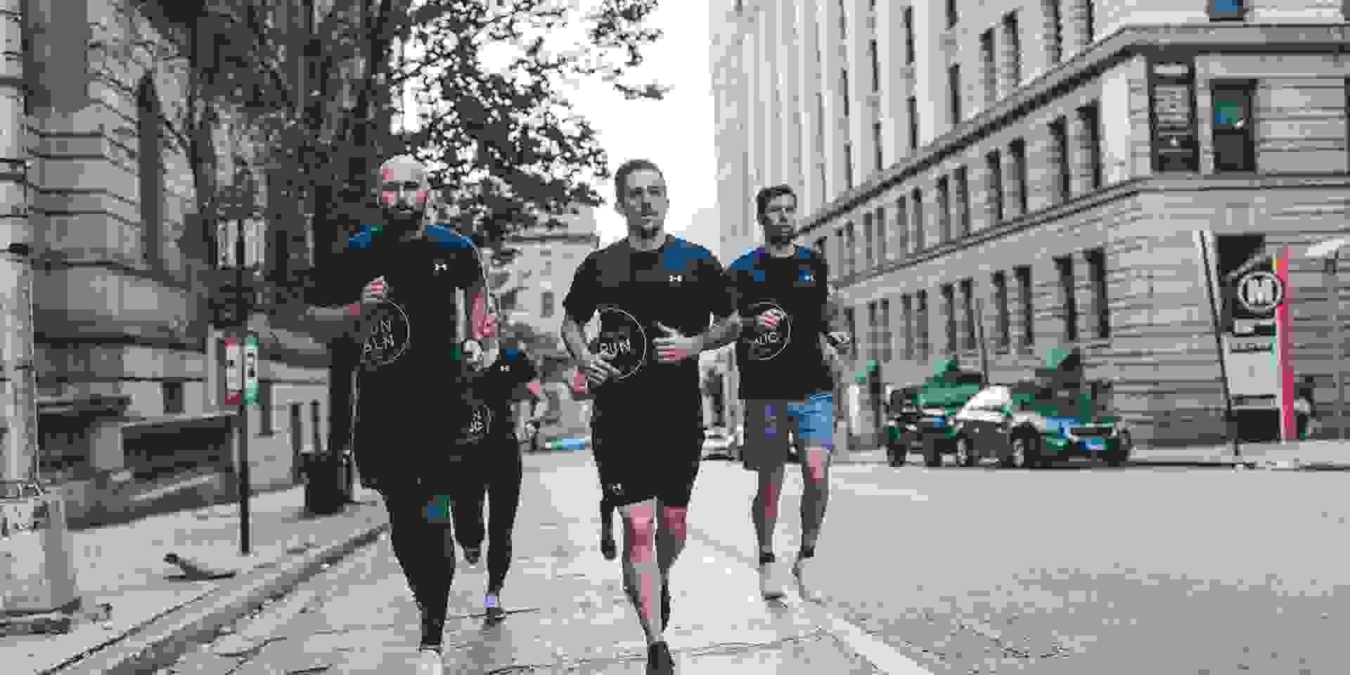 Einige Läufer