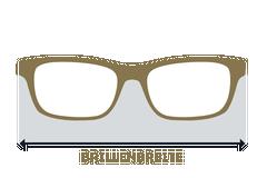 Maße Brillenbreite
